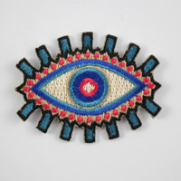 Evil Eye Embroidered Patch / Iron-On Applique