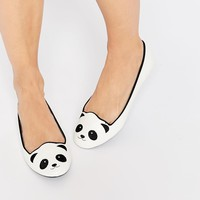Cute To The Core Pandamonium Flat Shoes at asos.com