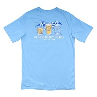 The Perfect Trifecta Tee in Ocean Channel by Southern Tide