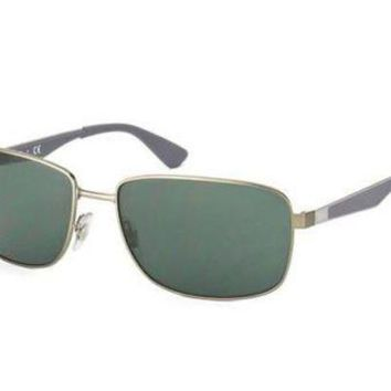 Kalete NEW Genuine Ray Ban RB3529 02971 58 Matte Ruthenium Mens Sunglasses Glasses