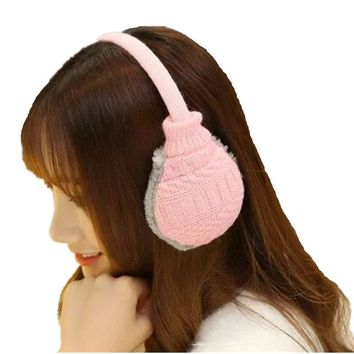 Women Men Winter Warm Knitted Earmuffs Ear Package Yarn Thermal Cover Ears Earmuffs 9 Colors Free Shipping