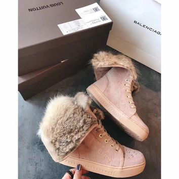 Louis Vuitton LV Winter Sheepskin Snow Boots