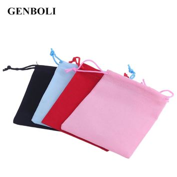 GENBOLI 20pcs/Set 12*10cm Velvet Gift Pouch Jewelry Packaging Drawstring Bag Stud Earring Ring Cufflink Watch Storage