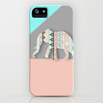 Elephant  iPhone & iPod Case by Sunkissed Laughter