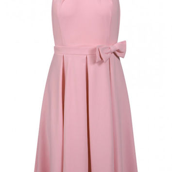 'Cherel' Pastel Pink Swing Dress