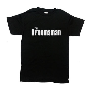 The Groomsman T-Shirt Groom TShirt Mobster Shirt Wedding Party Stag Party Bachelor Party Funny Groom Best Man Shirt Mens Tee - SA313