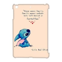 DiyCaseStore Custom Personalized Disney Lilo and Stitch Ipad Mini Best Durable Cover Case - Ohana means family,family means nobody gets left behind,or forgotten.