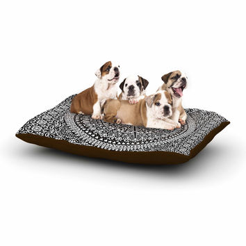 "Nika Martinez ""Mandala Bandana"" Black Abstract Dog Bed"