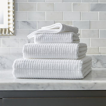 Manhattan White Bath Towels