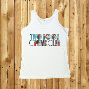 Two Door Cinema Club Shirt Women Tank Top T-Shirt Size S M L
