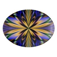 Fractal Artwork Porcelain Serving Platter