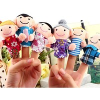 Finger Toy Finger Doll Baby Cloth Dolls Baby Toys Kid Child Boys Girls Educational Hand Toy