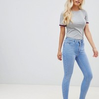 New Look Petite Raw Hem Disco jean at asos.com