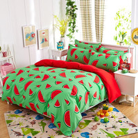 Hot Sale Reactive Printing bedding set soft comfortable bed set family set 3/4pcs.  Queen full  Twin size fast shipping