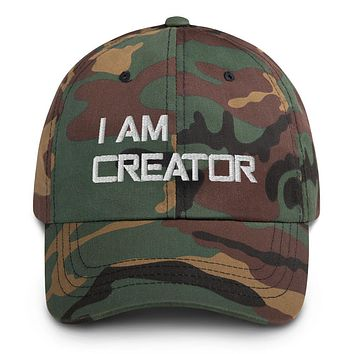 """""""I AM CREATOR"""" Positive Motivational & Inspiring Quoted Embroidery Classic Dad hat"""