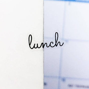 Clear Lunch Stickers, Clear Planner Stickers, Clear Word Stickers, Transparent Stickers, Meal Stickers, Meal Plan Stickers, Dinner (p060)