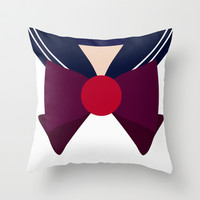 Sailor Pluto Bow Throw Pillow by House of Jennifer