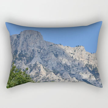 Mountains Holiday Rectangular Pillow by ArtGenerations