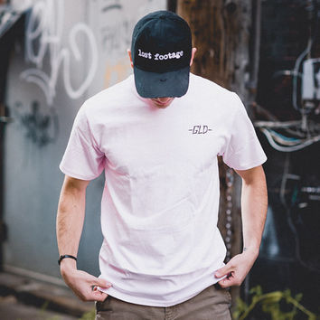GLD Scratch Logo Tee in Pink