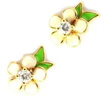 Juicy Couture 'Flower Punk Couture' Stud Earrings, White Gift Boxed