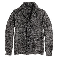 J.Crew Mens Marled Cotton Shawl-Collar Cardigan Sweater