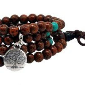 Unisex Yoga Meditation 108 Tibetan Bodhi Prayer Beads Daemonorops Seeds Mala Wrap Bracelet Necklace