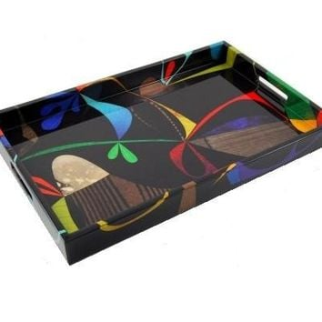 Rex Ray Fleuron Lacquer Breakfast Tray