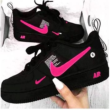 NIKE AIR FORCE 1 Tide brand simplified version OW low men and women sports shoes