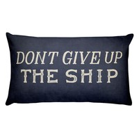 Don't Give Up The Ship Commodore Perry Handmade Rectangular Pillow