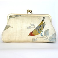 Kisslock Frame Clutch Silk Lined Bi.. on Luulla