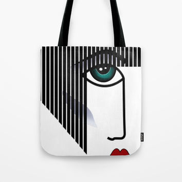 Woman's Profile Tote Bag by MIKART