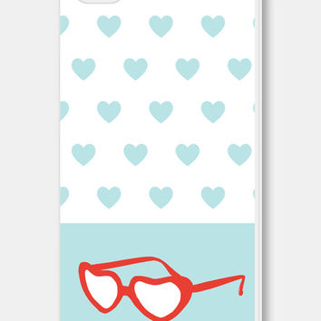 iPhone Case - Heart iPhone 5c Case - Heart  iPhone 5 Case - Heart iPhone 4s Case - Heart iPhone 5s Case - Red Blue Hearts Lolita Sunglasses