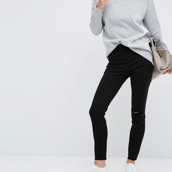 DL1961 JA X DL No.2 Super Skinny Ankle Grazer Jean with Raw Hem