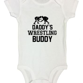Daddy's Wrestling Buddy Funny Kids Onesuit