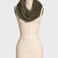 aspen weekend infinity scarf in olive at ShopRuche.com