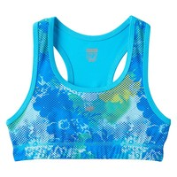 New Balance Floral Dot Performance Racerback Sports Bra - Girls 7-16, Size: