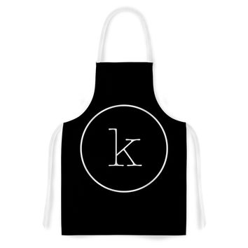 "KESS Original ""Simple Black Monogram"" Artistic Apron"