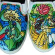 Beauty and the Beast Custom Painted Sneakers