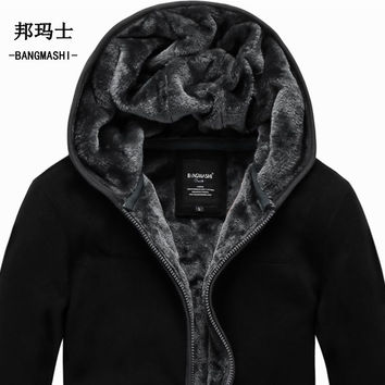 2016 Autumn Winter Coats And Jackets Men's Hoodies Plus Size Cardigan  Men Cotton Jackets 5Xl 6Xl Free Shipping A018