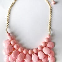 Drops of Sunshine Necklace - Pink