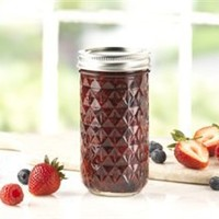 Ball® 12-oz. Quilted Crystal Jelly Jars, Set of 12 by Ball® at Fresh Preserving Store