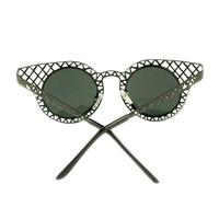 Ridge Hollow Out Cat Eye Sunglasses