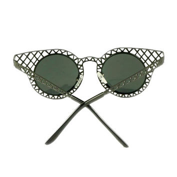 Black Ridge Cut Out Cat Eye Sunglasses