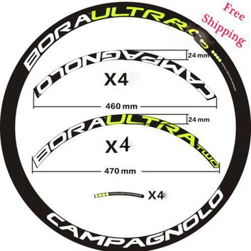 Bora Ultra TWO CAMPAGNOLO Road Bike wheelset rim Stickers for 700C bike 40/50 mm carbon two wheels replacement race dirt decals