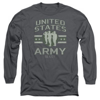 ARMY/UNITED STATES ARMY-L/S ADULT 18/1-CHARCOAL