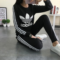 "Fashion ""Adidas"" Casual Thickened Round Neck Long Sleeve Sportswears"