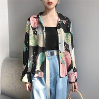 Buy Windflower Floral Print Blouse | YesStyle