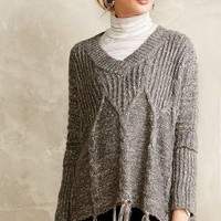 Cabled Poncho Sweater