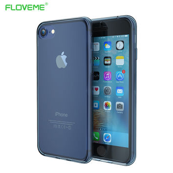 FLOVEME 360 Degree Style Soft TPU Case For iPhone 7 Transparent Clear Full Coverage Waterproof Cover For iPhone 7 Coverage Capa