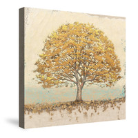Golden Oak Canvas Wall Art